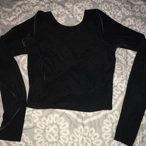 Abercrombie & Fitch black velvet crop top